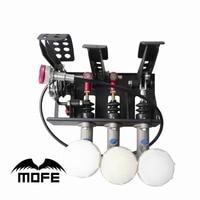 MOFE Racing car Floor Mounted 0.75 Master Cylinders Hydraulic Brake Pedal Box Kit Hydraulic Clutch Brake + 3 Plastic oil tank