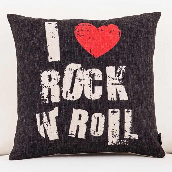 Peace Love Music 1969 Чехлы для подушек Ретро Рок музыка Джим Моррисон Декоративные Чехлы для подушек Лен наволочки