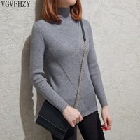 New 2018 Fashion Women's sweater Cashmere Elastic Autumn Winter Half Turtleneck Sweaters sexy tight Bottoming Knitted Pullovers