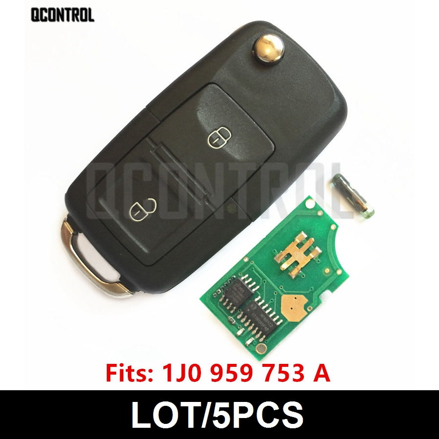 QCONTROL Car Remote Key DIY for VW VOLKSWAGEN Lupo Bora Passat Polo Golf Beetle 1J0959753A 5FA8137