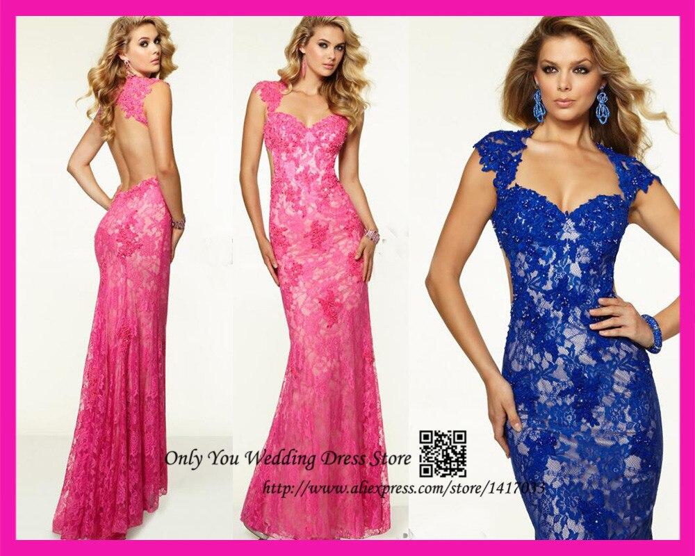 Vistoso Long Sleeve Backless Prom Dresses Embellecimiento ...
