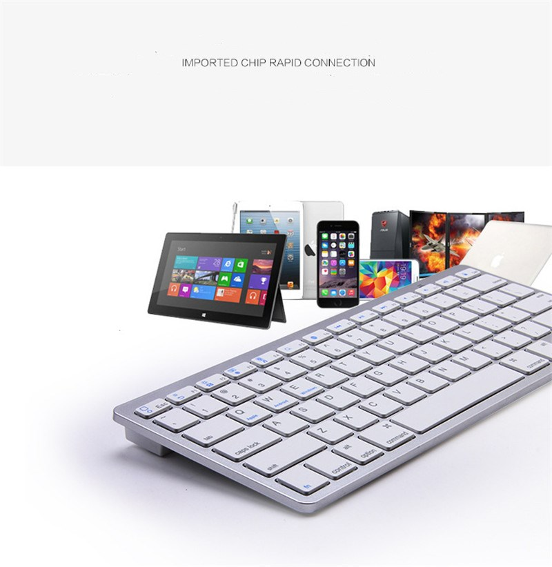Bluetooth Keyborads Slim Wireless Russian Spanish Korean French Arabic for IPAD2345 Mac ios Android windows phone tablet laptop
