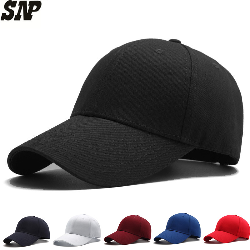 black baseball cap men women hat snapbcak Baseball Caps male Casual solid color bone Hats dad cap gorras Size adjustable cap 2017 new solid color baseball cap polo hats for men or women autumn and winter outdoor bone cap hat