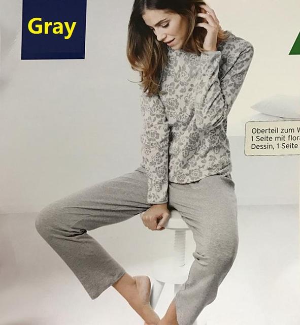 Envío libre, primavera mujer warm set, algodón de la manera de Marca para mujer de calidad de Euros más el tamaño Pijamas. en las ventas