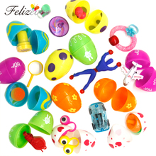 12 Toys Filled Easter Eggs Surprise Eggs Measure 2 Inches Great for Easter Eggs Hunt Easter Party Favors Supplies Pinata Gifts