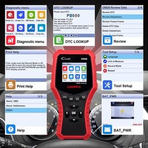 Image 2 - 起動 X431 CR3008 OBD2 自動車スキャナ OBDII コードリーダー診断ツールバッテリー電圧テストツール無料アップデート pk KW850