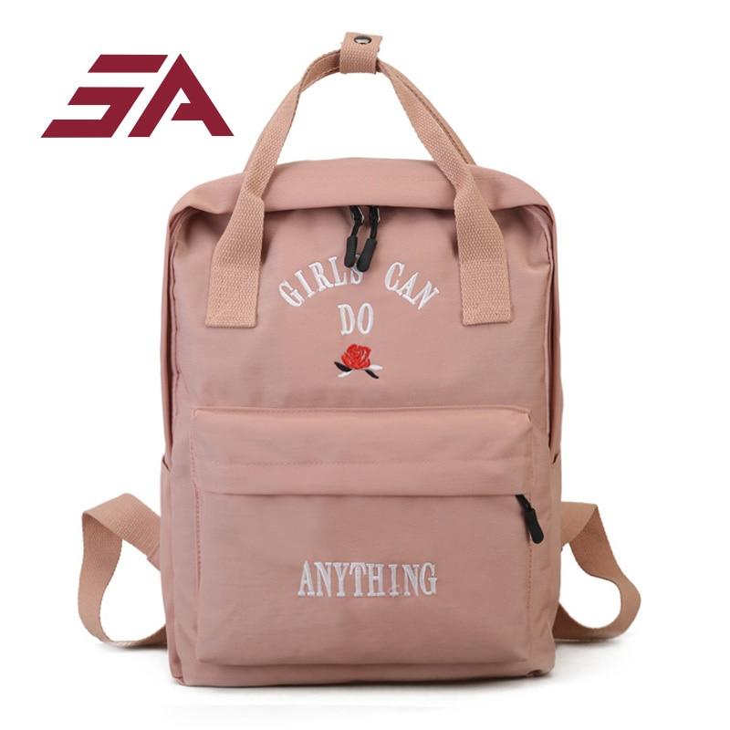 SA moon wood winter emoji applique corduroy backpack has headphone jack school bags for teenager girls students laptop back pack