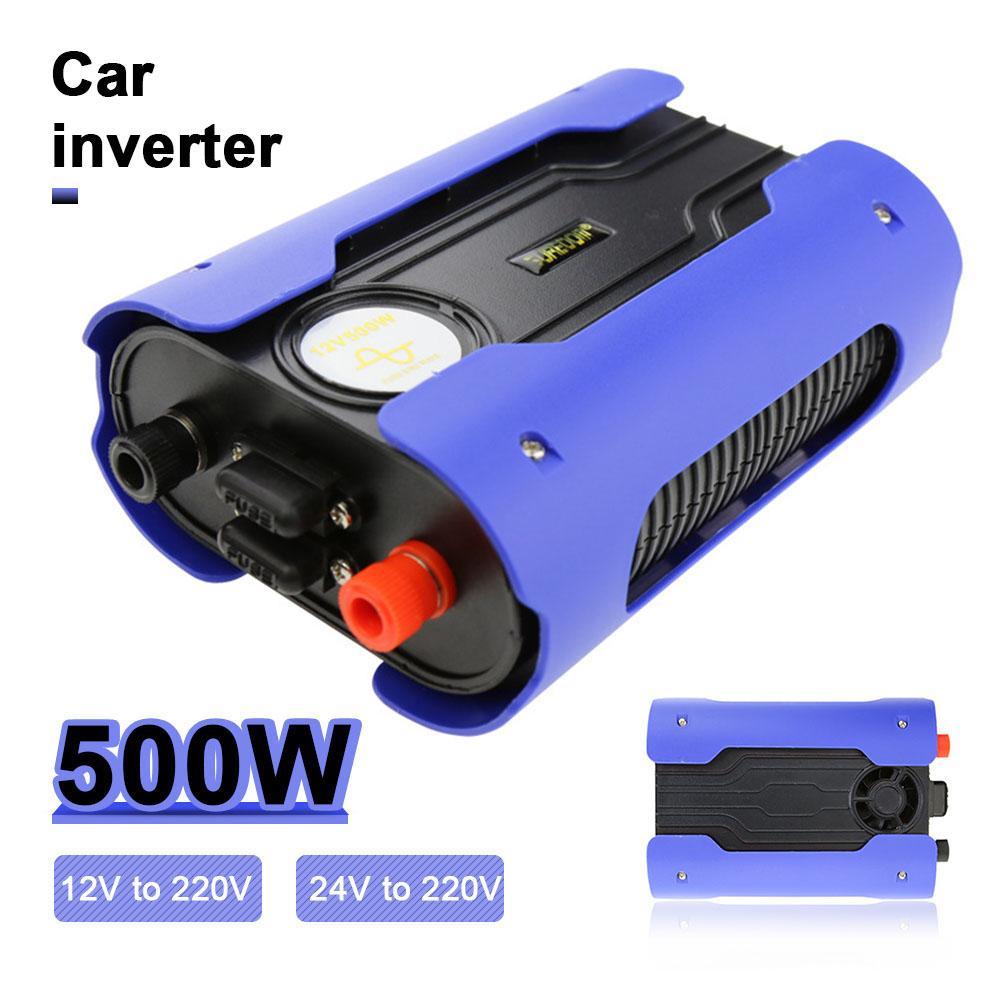 Doxin 500 W DC 12 V/24 V à AC 220 V USB pur convertisseur d'inverseur de voiture à onde sinusoïdale