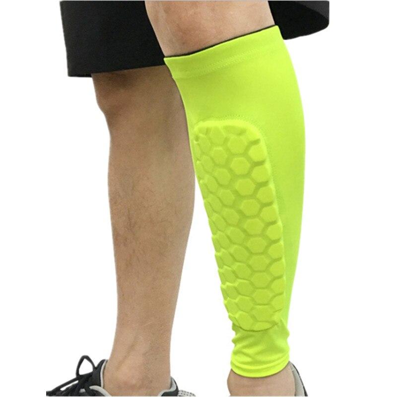 1 Pc Football Shin Guards Protector Soccer Honeycomb Anti-crash Leg Calf Compression Sleeves Cycling Running shin guards