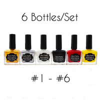 BORN PRETTY 6 Bottles 15ml Nail Art Stamping Polish Set Manicure Art Plate Printing Varnish Lacquer