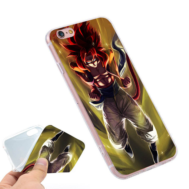 DBZ  Holder Soft TPU Silicone Phone Case Cover for iPhone 4 4S 5C 5 SE 5S 6 6S 7 Plus