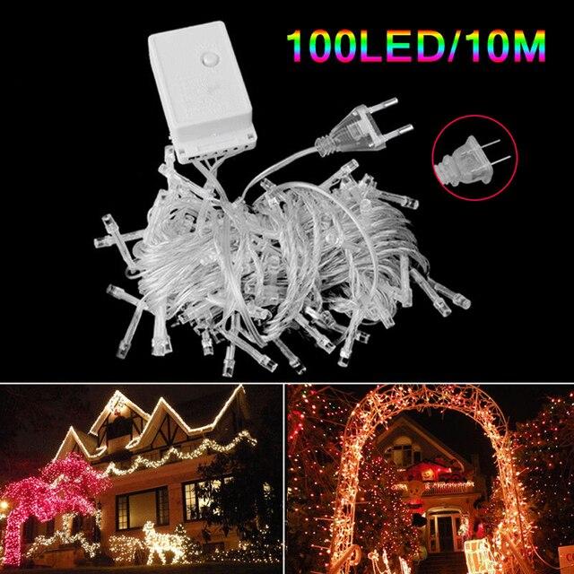 10m 100 led christmas strip light wedding party decoration string lights ac 110v 220v decor outdoor - Led Christmas Decorations Outdoor