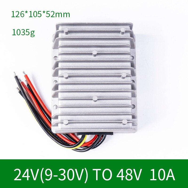 24V(9-30) to 48V 10A Step Up DC DC Converter Boost Regulator Waterproof Regulator Power Supply for Toy Car LED Golf Cart