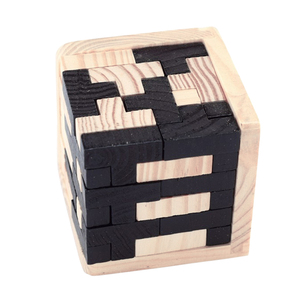 Image 5 - 1 סט 3D פאזל מוקדם חינוכי צעצוע עץ חידות למבוגרים ילדי מוח טיזר Creative לובן עץ שלובים צעצוע IQ פאזל