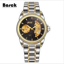 Venta caliente de Lujo Luminoso Esqueleto Dial Stainless Steel Band Mecánico Automático Reloj de Pulsera Hombres Mujeres Mejor relogio masculino
