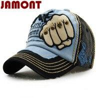 JAMONT Brand Washed Rivet Skull Baseball Cap Hip Hop For Women Men Snapback Casual Hat