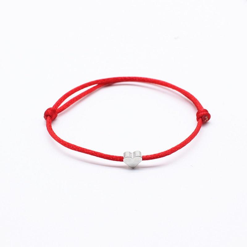 2019 new Lucky Heart star Bracelet For Women Children Red color Rope String Adjustable Handmade Bracelet Jewelry simple Bracelet 1