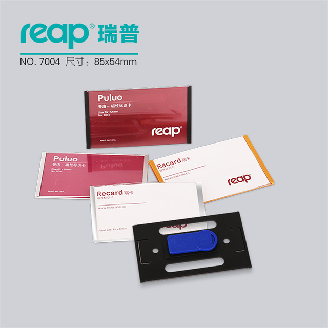 """10 יחידות/1 מארז ABS 90*54 מ""""מ Reap7004 תגי מגנט בעל תג כרטיס תג שם מגנטי מזהה עבודת מחזיקי כרטיס עובד"""