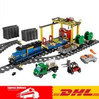 Lepin 02008 959PCS City Explorers Cargo Train DIY Building Blocks Bricks Educational Toys For Children Gifts