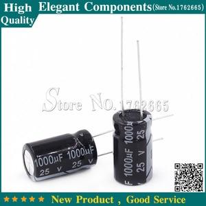 Image 1 - 100 PCS 1000 미크로포맷 25 V 25 V/1000 미크로포맷 알루미늄 전해 콘덴서 25 V 1000 미크로포맷 크기 10*17mm 전해 콘덴서