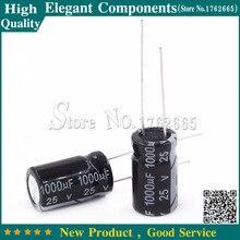 100PCS 1000UF 25V 25 V / 1000 UF Aluminum electrolytic capacitor 25V 1000UF Size 10*17mm Electrolytic capacitor