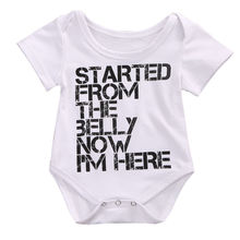 Newborn Infant Baby Boys Girl Clothing Jumpsuit Bodysuit Letter Short Sleeve Baby Girls Clothes Outfits