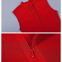 Hollow Out Clubwear Red Bandage Dress Women
