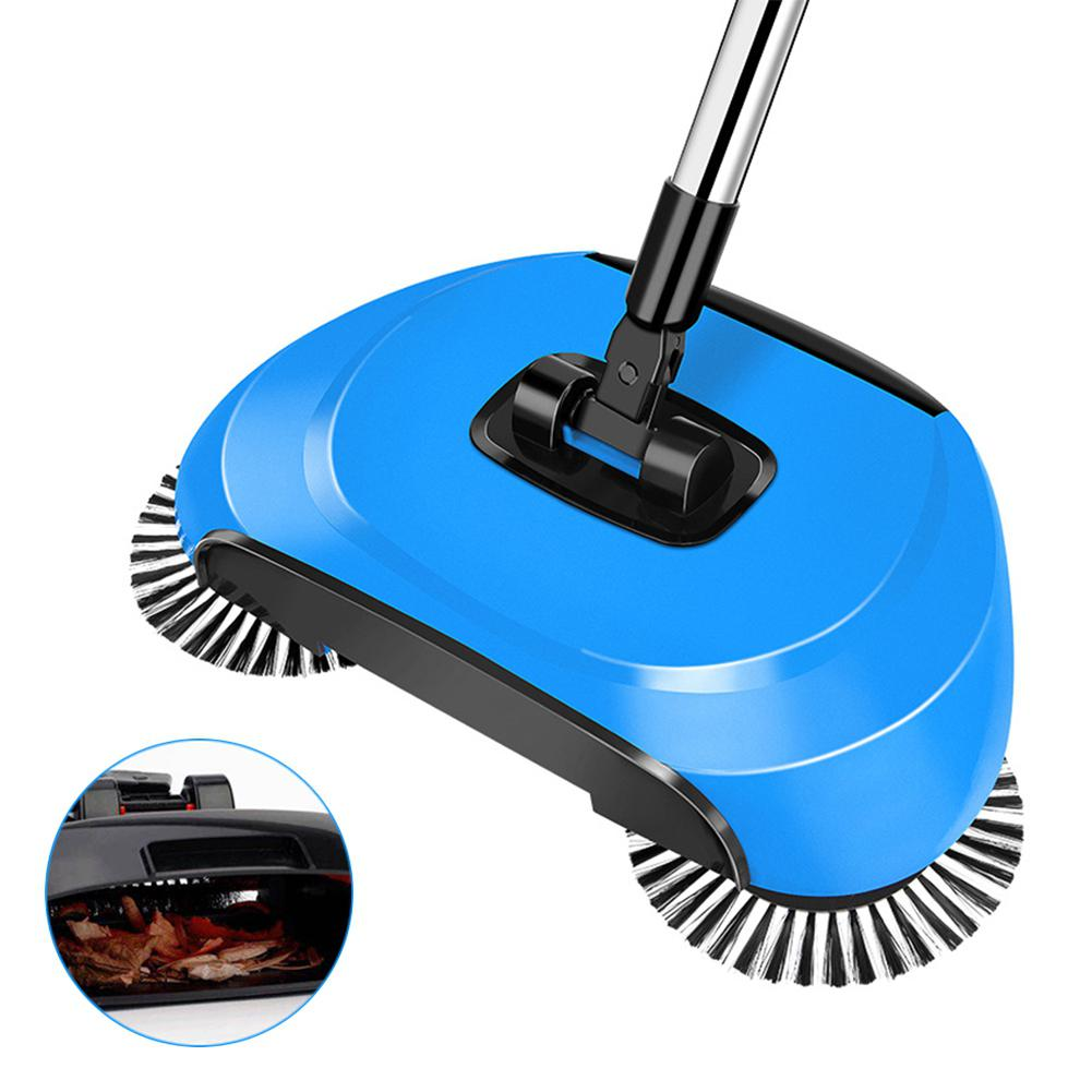 Adeeing Hand Push Type Sweeping Machine Handhold Magic Broom Dustpan Mop Household Cleaning Tool