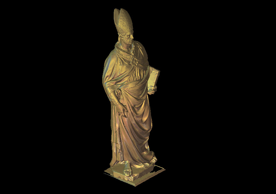 3D model Roman emperor statue for CNC router printer Artcam Aspire type3 STL format file M449 image