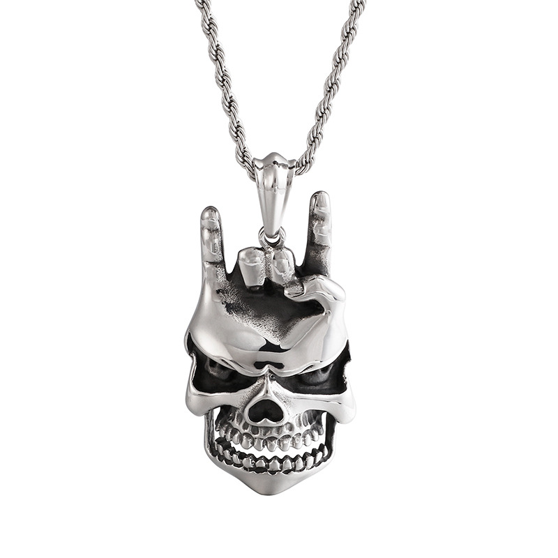 Ambitious European And American Hip Hop Personality Gesture Pendant I Love You Necklace Trend Gimmick Pendant Rapper Fashion Accessories Vivid And Great In Style