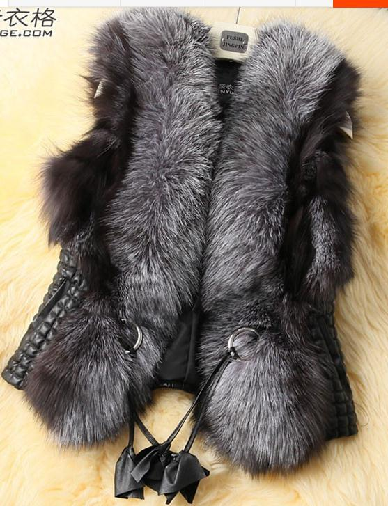 2018 New Spring Winter Leather Grass Long-haired Faux Fur Vest Female Models Office Slim Zipper Fur Coats Casaco Feminino Q493 Luxuriant In Design Jackets & Coats
