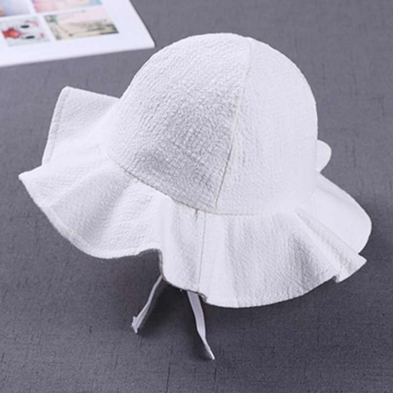e16e6d7a2 Summer Outdoor Baby Hat Cap Infant Baby Girl Sun Hat Cotton Children Kids  Baby Floral Beach Sunhat Suit For 1-4 Years Old Kids