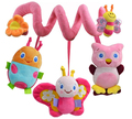 candice guo! New arrival Sozzy bee owl ladybug butterfly pink spiral bed round multi-purpose baby toy gift 1pc