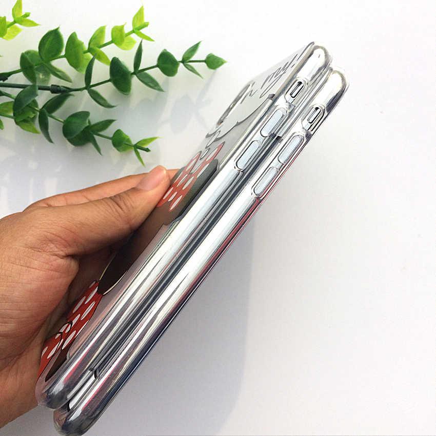 041d4dbfab7 ... Dibujos Animados Mickey Mouse suave TPU silicona transparente funda de  teléfono para Apple iPhone X XS