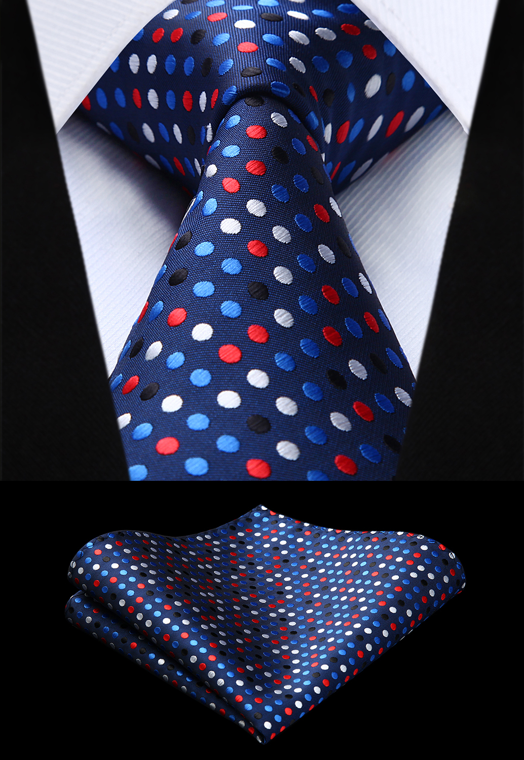 Glitter Sparkles Shimmer Printing Mens Tie Wedding Silk Neckties