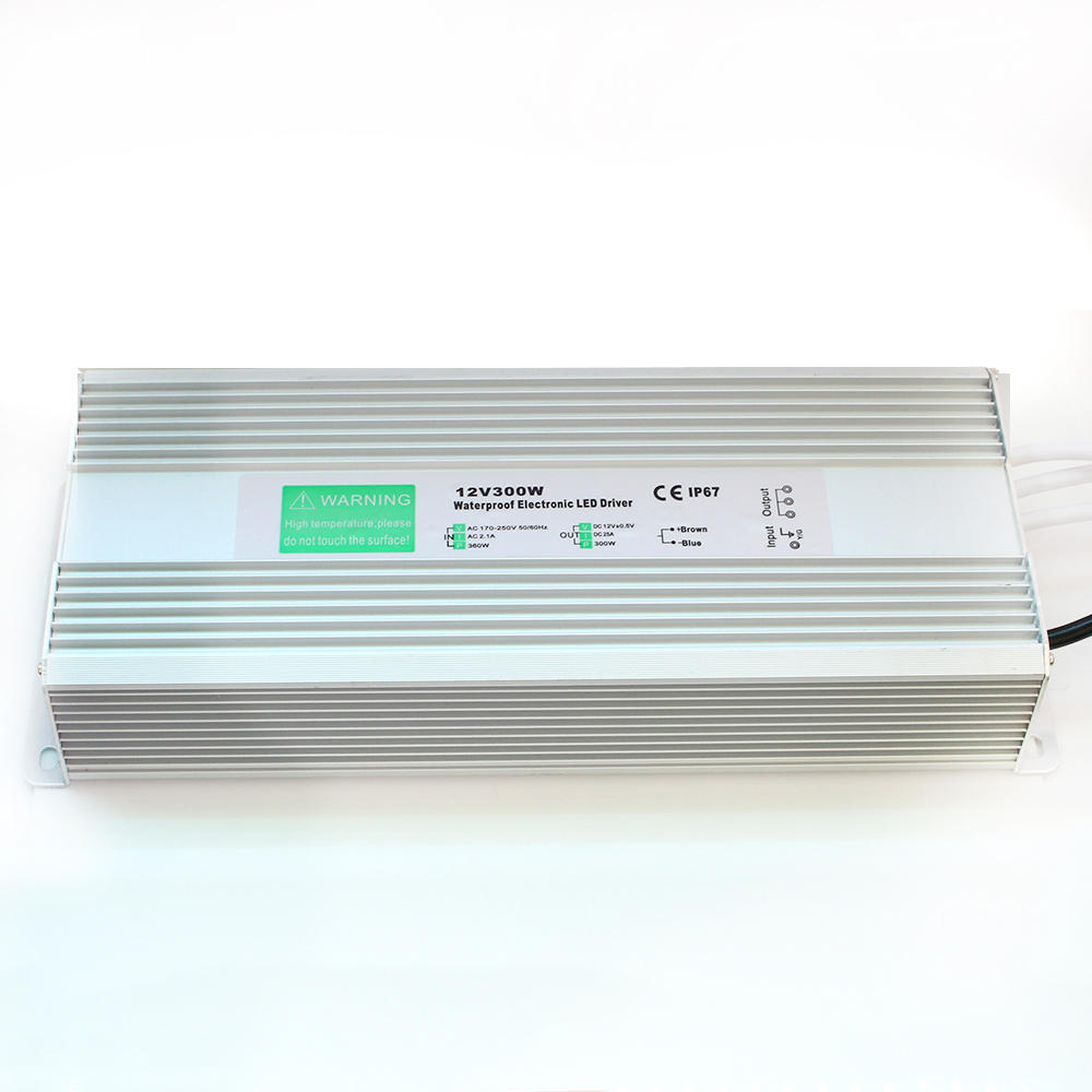 цена на Free Fedex 300W LED driver dc 12v 25A led power supply outdoor using ip67 Waterproof lighting transformer power adapter