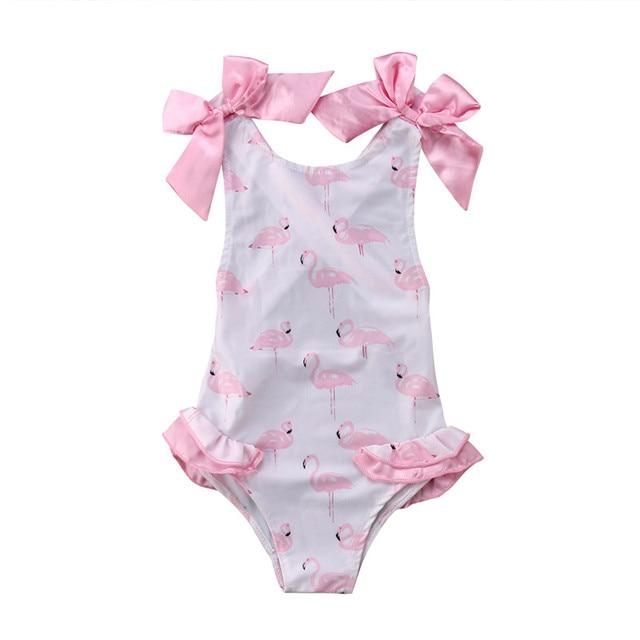 1-5T Kid Baby Girls Summer Swimwear Swimsuit Beachwear Bathing Suit One Piece Bodysuit Cute Animal Sunsuit | healthy feet socks