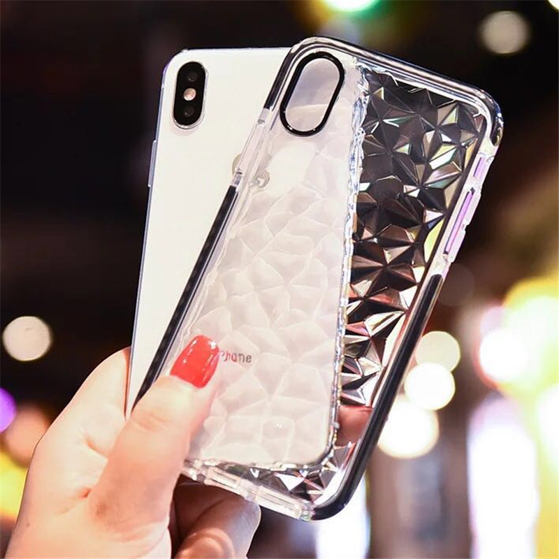 Luxury ribbing Phone case Soft Shell for iPhone 8 plus 7 6 6s X XS max XR Case Shockproof TPU Silicone Back Cover Popular case in Fitted Cases from Cellphones Telecommunications