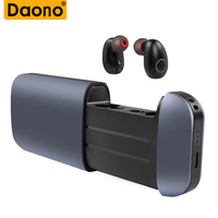 DAONO B5 TWS Magnetic Binaural True Wireless Bluetooth Earphone With Charging Bin 2600mAh Power Bank Bluetoo Earbuds