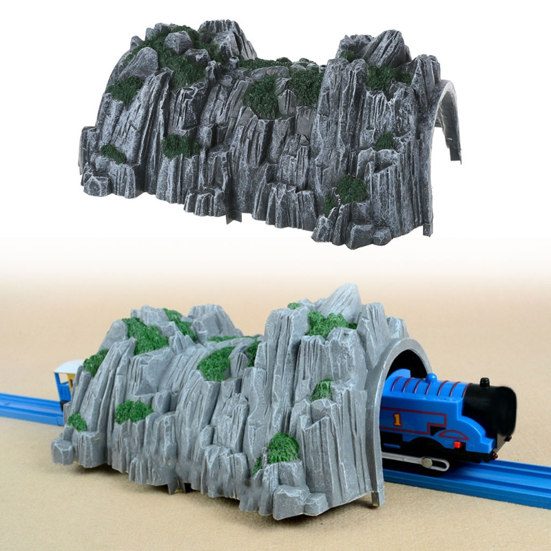 High Quality Plastic Rockery Tunnel Track Train Slot Railway Accessories Toy-M18