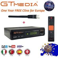 Подлинный 1 год Европа Cline GT медиа V7S DVB-S2 спутниковый приемник + USB wifi 1080 P HD приемник Поддержка YouTube, powervu Biss PVR