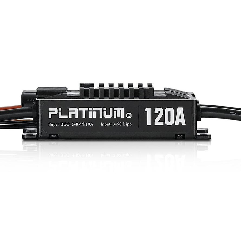 100% Original Hobbywing Platinum Pro V4 120A 3-6S Lipo BEC Brushless ESC for RC Drone Aircraft Helicopter