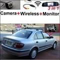 3 in1 Especial Cámara + Receptor Inalámbrico + Sistema de Copia de Seguridad Aparcamiento Monitor Del Espejo DIY Fácil Para NISSAN Pulsar N16 2000 ~ 2005