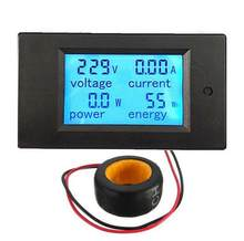 Medidor de tensão do voltímetro 260v 110v do amperímetro do medidor de potência do watt do volt de digitas 100a do lcd 80-220v