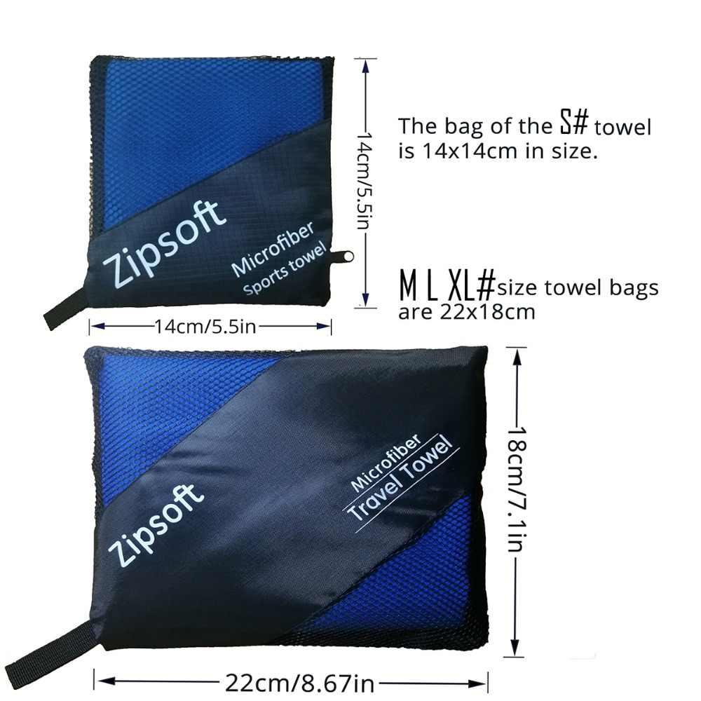Zipsoft 브랜드 마이크로 화이버 비치 타월 성인용 havlu 빠른 건조 여행 스포츠 타월 담요 목욕 수영장 캠핑 요가