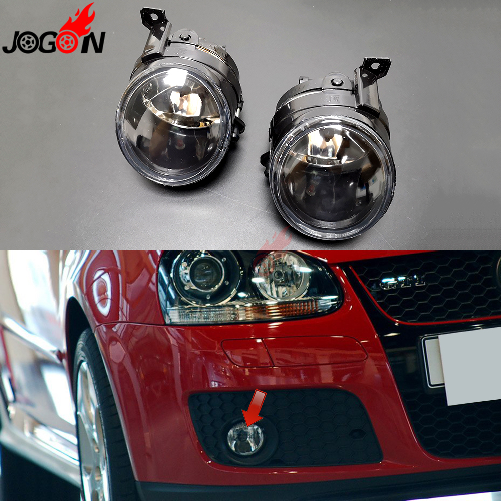 For VW Golf 5 GTI 2003 2008 Jetta MK5 V Tiguan Rabbit Caddy Halogen H11 Front Fog Light Convex Lens Driving Lamp Assembly