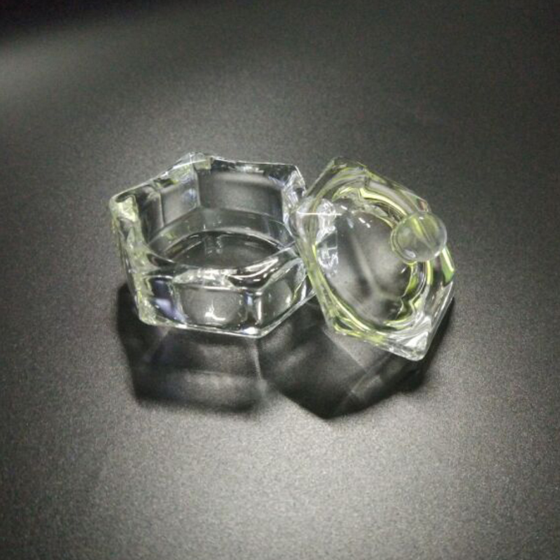 Dish-Bowl Acetone Container Nail-Tools Clear Acrylic Cup Crystal for 1pcs Glass
