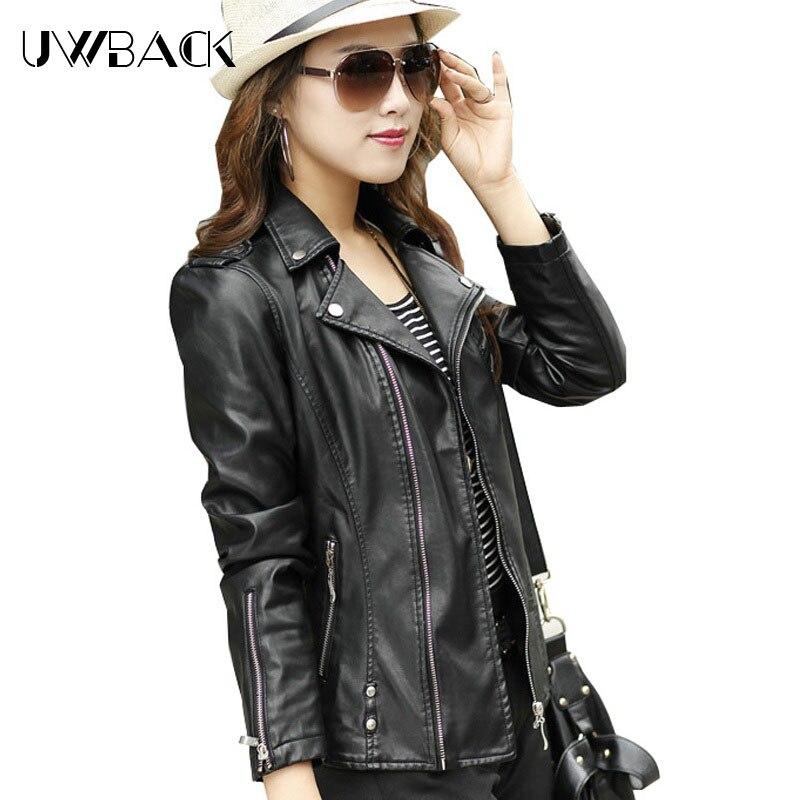 f5004b0d44 2017 New Fashion Women Leather Jacket Long Sleeve Slim PU Women Autumn  Jacket Thicken Plus Size Leather Jackets For Women TB624-in Leather   Suede  from ...