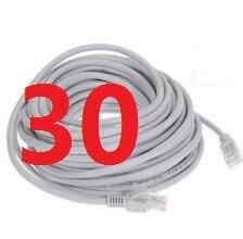 30 # laoke 2018 кабель высокого Скорость 1000 м RJ45 CAT6 сети Ethernet плоский кабель LAN UTP Патч-маршрутизатор Кабели