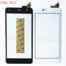 SARA NELL Phone Touch Sensor Touchscreen For Fly fs517 cirrus 11 FS 517 Screen Digitizer front glass lens panel with tape